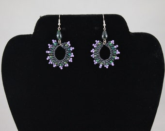 Green & Purple Earrings