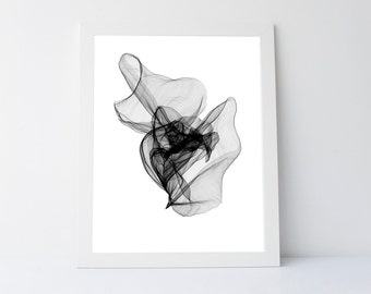 Abstract art print, gallery wall,printable black, abstract print, wall art printable, black and white print,minimalist art print, black art