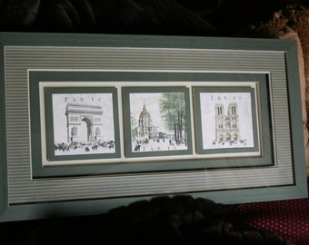 Frame engravings Paris monuments