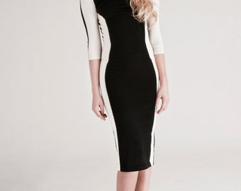 Cashmere and virgin wool dress