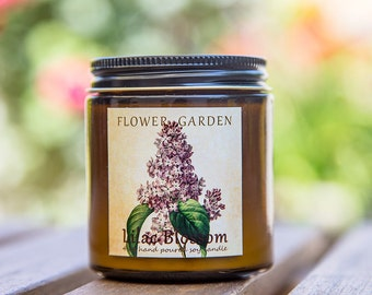 LILAC BLOSSOM Scented soy candle, natural organic candles, unique mom gift, floral candle, 4 oz