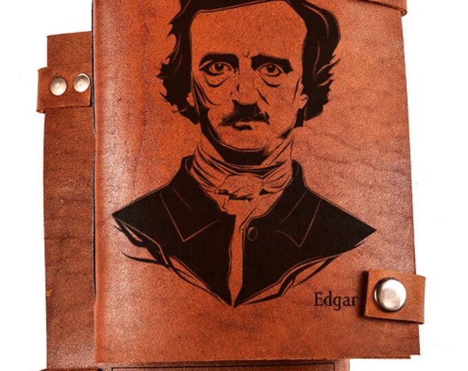 Leather Notebook - Edgar Poe journal - Edgar Poe Notebook - Leather Journal - Sketchbook - Diary