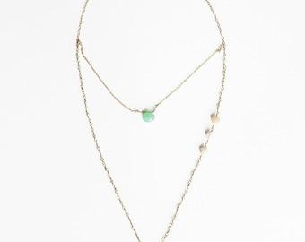 Chrysoprase & Opal Layered Necklace