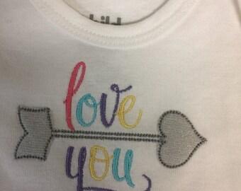 Love You, Sweet baby girl Onesie, Bodysuit