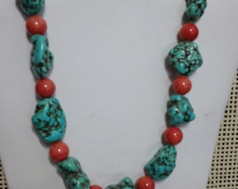 Turquoise & Coral Set