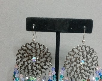 Rainbow of Crystals, Earrings