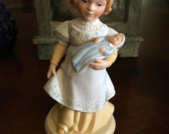 Vintage Avon-A Mother's Love-Bisque-Figurine 1981