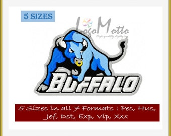 BUFFALO BULLS EMBROIDERY designs Mlb Baseball logos
