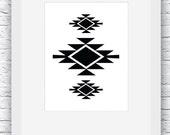 Southwestern Print, Black...