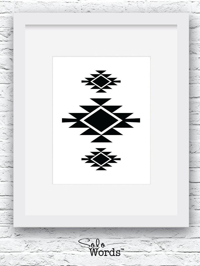 Southwestern Print Black and White Navajo Print Printable