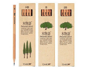 "Tombow  Eco-friendly "" Wood Story"" Unpainted Recycled Pencil LAKEA - HB/2B."