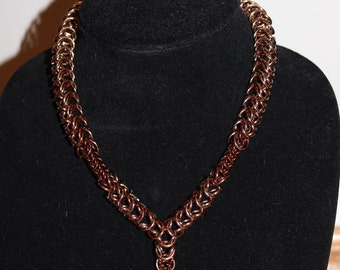 Chain mail Necklace Bronze
