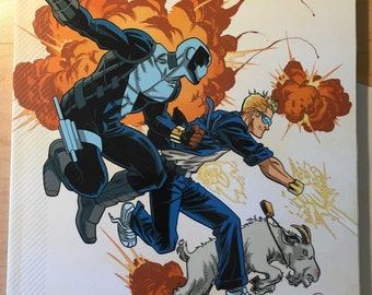 Quantum and Woody Must Die! tpb signed w/ sketch by Steve Lieber