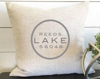 My Lakes Pillow- 18 x 18, home decor, cushion, throw pillow, gift, present, custom home, custom house, boating, lake home, nursery decor