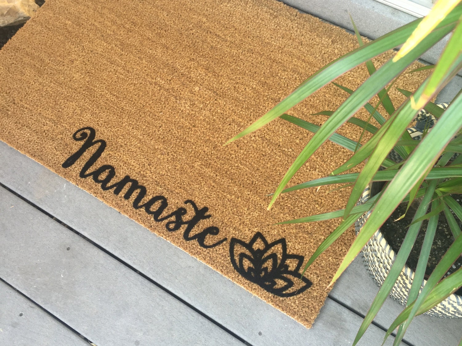 Front Door Mat Custom Mats Yoga Door Mat Yoga Gift