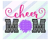 Cheer Mom Svg, Svg-Dxf-Png, Studio3, Cut Files For Silhouette Cameo & Cricut, Svg Download.