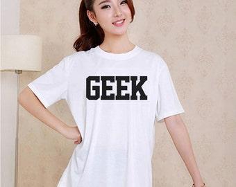 Cute GEEK Style White and Black Reaclothstore