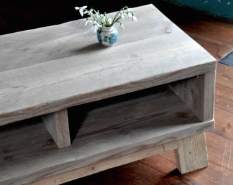 Reclaimed Wood Coffee Table TV Stand Industrial Rustic Scaffold Table Vintage Scaffold Wood Bespoke Coffee Table Reclaimed TV Stand