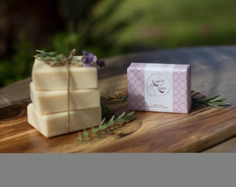 Handmade Olive oil Soap - Lavender essential oil and Pink Clay