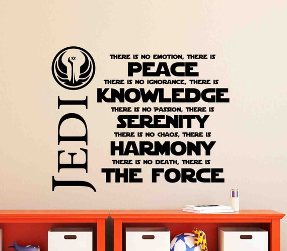 Jedi Peace Knowledge Wall Decal by VinylDesignsForYou