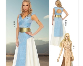 Sewing Pattern Princess Warrior Fantasy Costume Pattern, Cosplay, Tabard and Skirt Costume Pattern, McCall's Pattern 6941, Game of Thrones