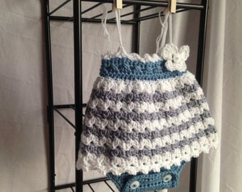 Crochet PATTERN - baby romper, crochet baby dress, easy crochet baby clothes, crochet baby skirt, crochet baby romper pattern