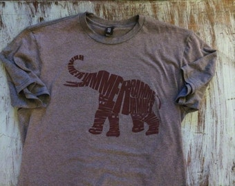 Alabama Crimson Tide - Rammer Jammer Elephant - Tri Blend Shirt
