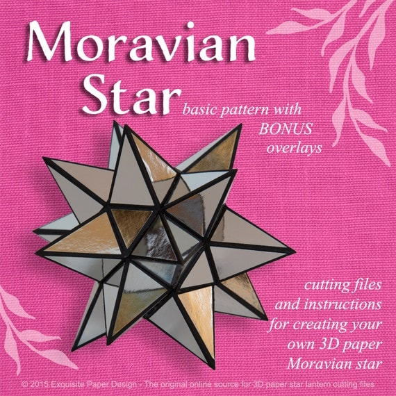 Moravian Paper Star Lantern Basic Design - SVG CUTTING FILE special occasion, mexican star, design, pattern, template, decoration, party