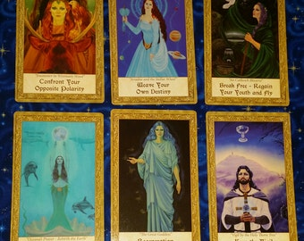 Two Question Card Reading Freestyle Spread with Art Through The Eyes Of The Soul Oracle