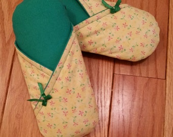 Spring Fling Kimono Style Women's Slippers - 100% Cotton Indoor Soft Sole