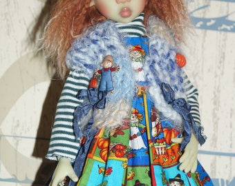 Blue n Scarcrows whimsy  By 2SnSb fits Kaye Wiggs MSD size  MIKI,  or layla