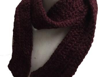 fashion scarf - handmade scarf - maroon scarf - burgandy scarf - plain scarf