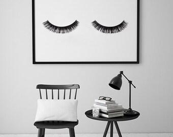 Fashion Wall Decor eye lashes fashion print wall decor minimal art glamour