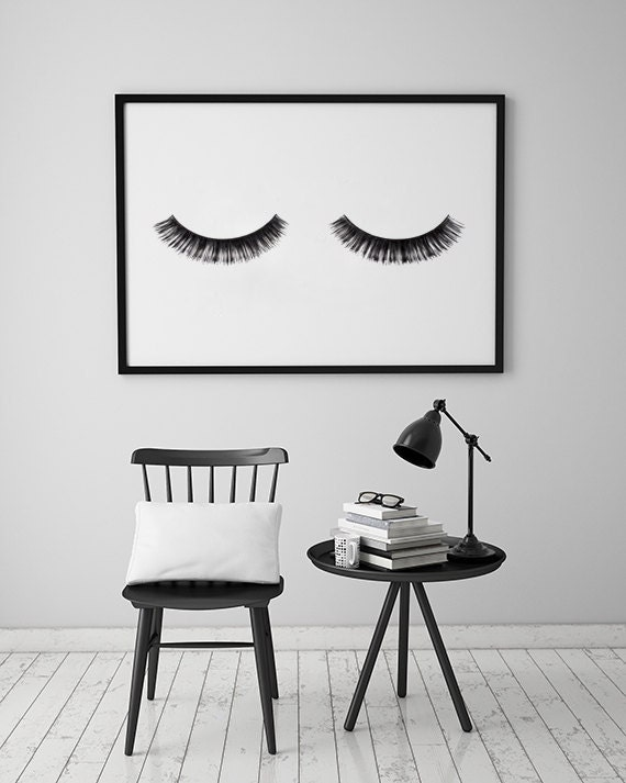Minimalist poster eye lashes fashion print wall for Minimalist wall decor