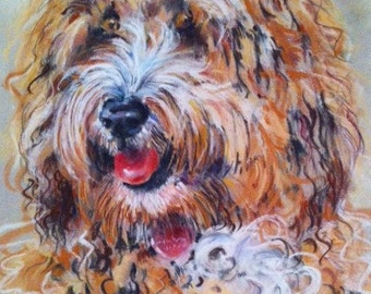 Custom Portrait of your Dog, Pet Portrait, Pastel Portrait
