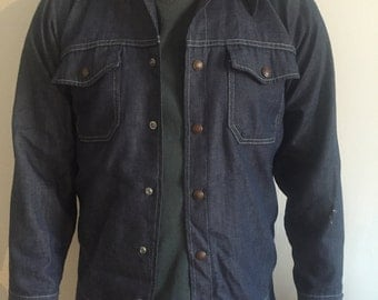 Vintage mens denim jacket small.