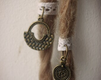 Set of 2 items for dreadlocks ethnic collection here
