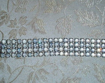 Brilliant Four Row Rhinestone Bracelet