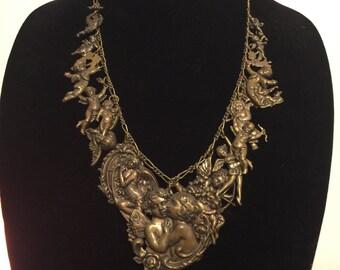 L'amour Vintage Cupid charm necklace