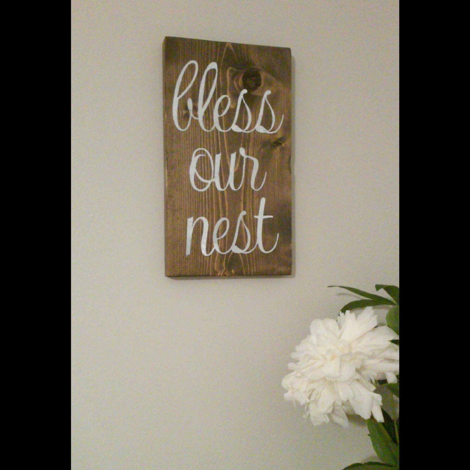 Bless Our Nest Rustic Wooden Sign