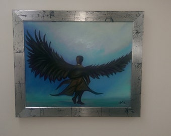 Angel Alone (includes silver cracle frame)