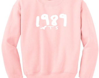 1989 Seagull T S Pullover Sweatshirt World Tour Light Pink