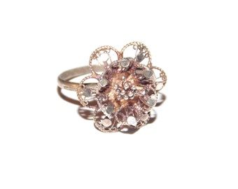Size 5 Delicate Silver Flower Ring