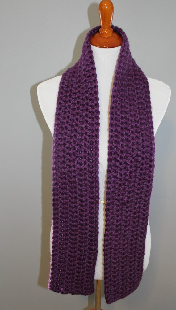 items similar to purple chunky crochet scarf purple
