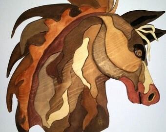 Horse head art