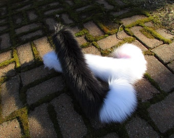 Any Color Fluffy Furry Tipped Cat Tail Cosplay Fully Plush