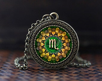 Scorpio Zodiac Necklace, Scorpio Pendant, Scorpio Zodiac Jewelry, Zodiac Sign Necklace, Astrology Necklace,
