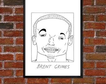 Badly Drawn Brent Grimes - Miami Dolphinsposter / print / artwork / wall art
