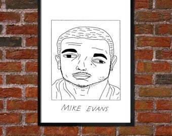 Badly Drawn Mike Evans - Tampa Bay Buccaneersposter / print / artwork / wall art