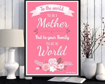 Mother gift for Christmas, Mum gift for christmas, Mother gift, Love you mom, Love poster, Mother birthday, Wall decor, Mother gift idea